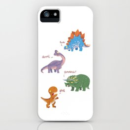 Potty Mouth Dinos Group iPhone Case