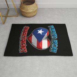 Puerto Rican Sweetheart - Boricua Heart Rug