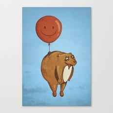 Float On, Bear, Float On Canvas Print