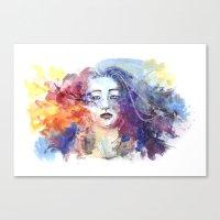 ultraviolence Canvas Prints featuring Ultraviolence by Jordana Clarke
