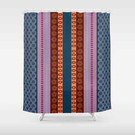 Ethnic Andean Peruvian Textile Pattern Shower Curtain