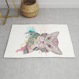Watercolor Cat Rug
