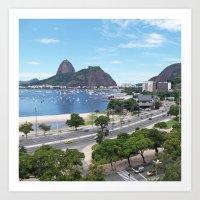 rio de janeiro Art Prints featuring Rio de Janeiro Landscape by Fernando Macedo