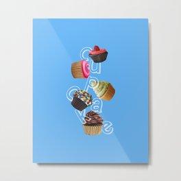 Android Eats: cupcake peg Metal Print