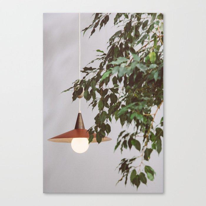 Lamp & Plant Canvas Print
