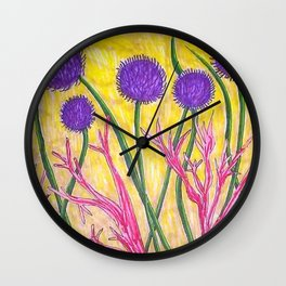 Alien Flora Solo Wall Clock