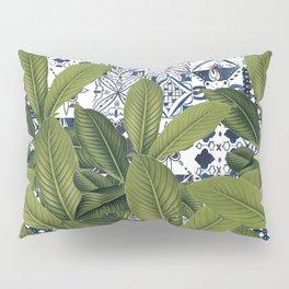 Morrocan Tiled Leaves Pillow Sham