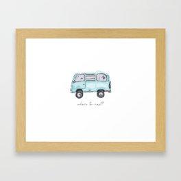 Canadian Road Trip Framed Art Print