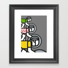 Peloton Tour De France Framed Art Print