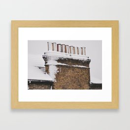 Snow Chimney Sweeps Framed Art Print