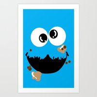 cookie monster Art Prints featuring Cookie Monster  by Lyre Aloise