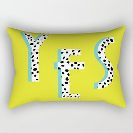 YES Poster | Lime Dalmatian Pattern Rectangular Pillow