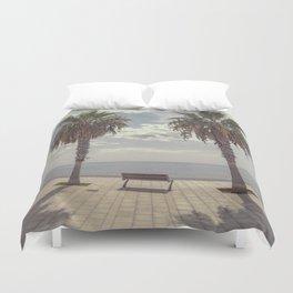 Palm trees in Palma de Mallorca Duvet Cover