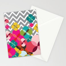 Chevron Blooms Stationery Cards