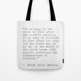 Ralph Waldo Emerson philosophy Quote Tote Bag