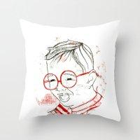 stripe Throw Pillows featuring stripe by Michela Buttignol