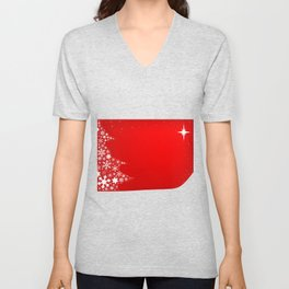 Red Christmas Unisex V-Neck