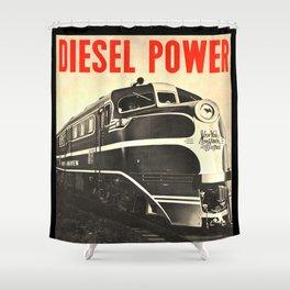 Diesel Power Shower Curtain