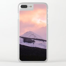 Rose Quartz Turbulence - III Clear iPhone Case