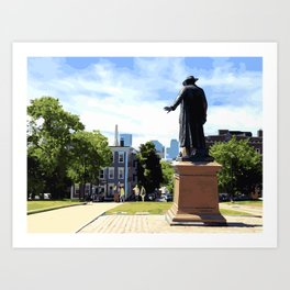 Battle of Bunker Hill, Boston, MA Art Print