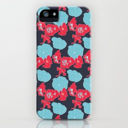 Lilly surface pattern design iPhone Case