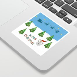 Christmas motif No. 1 Sticker