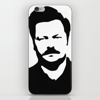 swanson iPhone & iPod Skins featuring Ron Swanson by Bjarni Bragason