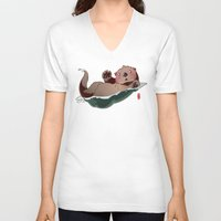 otters V-neck T-shirts featuring South by Jordan Lewerissa