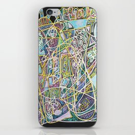Heavy Metal Rock Music on a Quiet Night iPhone Skin