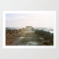 Walk Into The Ocean Art Print