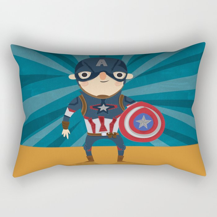 cap'n America Rectangular Pillow