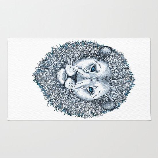 Blue Eyed Lion Rug
