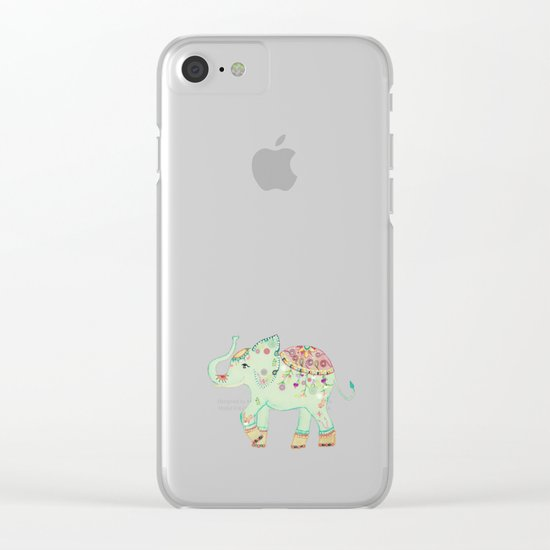 INDIAN SUMMER ELEPHANT by Monika Strigel Clear iPhone Case