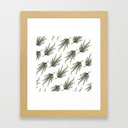 Hempsley Watercolor Leaf pattern Framed Art Print