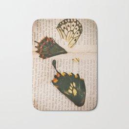 Words like butterflies Bath Mat