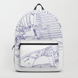 bonney drawing blue Backpack