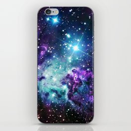 Fox Fur Nebula : Purple Teal Galaxy iPhone Skin