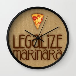 Legalize Marinara Wall Clock