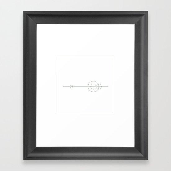 #379 Planetary balance – Geometry Daily Framed Art Print