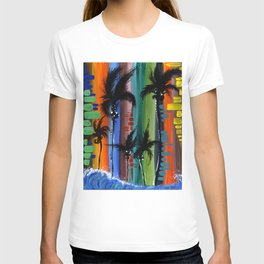 """COLOR IN PARADISE""  T-shirt"