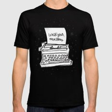 Write your own story. Black X-LARGE Mens Fitted Tee