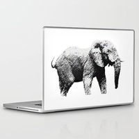 african Laptop & iPad Skins featuring African Elephant by T.E.Perry