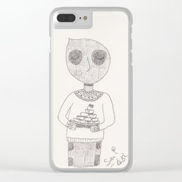 Wade Wilson Wishes You A Happy Thanksgiving Clear iPhone Case