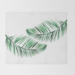 Tropical Exotic Palm Leaves on #Society6 Throw Blanket