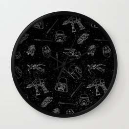 Star Doodles Wall Clock