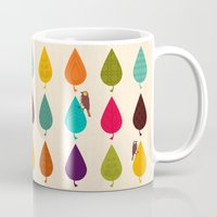 leaves Mugs featuring Leaves by Kakel