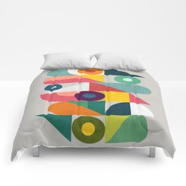 Tick Tock Machine Comforters