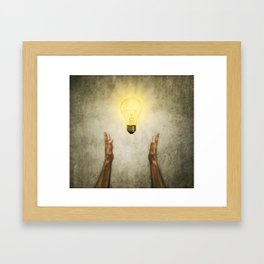 bulb idea Framed Art Print