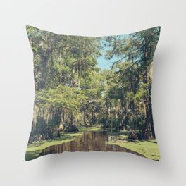 Swampland Throw Pillow