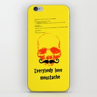 moustache iPhone & iPod Skins featuring Moustache by morganPASLIER